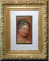 A.Renoir Kollege Lucien MIGNON 1865-1944 Paris: Bildnis junge Frau Expertise