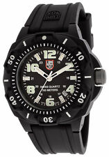 Luminox 0201.SL Men's Black Dial Strap Black Carbon Plastic Watch NEW
