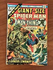 Giant-Size Spider-man #5 Man-thing Marvel comics 1975 FN-