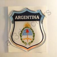 Sticker Argentina Emblem Coat of Arms Shield 3D Resin Domed Gel Vinyl Decal Car