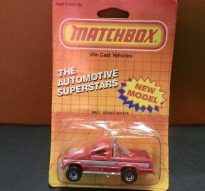 Vintage 1986 Matchbox Int'l 1:63 Dodge Dakota The Automotive Superstars
