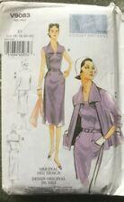 Vogue Vtg Model V 9083 Original 50s Fitted )acket Dress & Belt 14,16,18,20,22