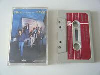 10CC LIVE AND LET LIVE DOUBLE PLAY CASSETTE TAPE 2LP 1977 PAPER LABEL MERCURY UK