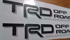 TRD Off Road, toyota tacoma tundra decal Sticker fiber carbono (set)