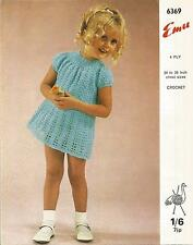 VINTAGE CROCHET PATTERN DRESS FOR LITTLE GIRL
