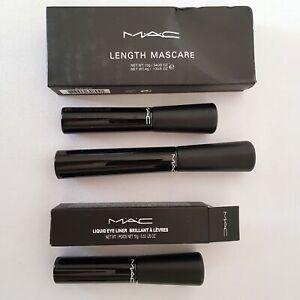 2pc Lot 3D Fiber Lash Length Mascara Waterproof Liquid Black Eyeliner Eye Liner