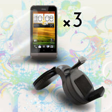 Car Holder Mount Cradle + Clear LCD Screen Protector Cover For HTC One V T320e