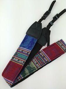 Kameragurt Textil Tragegurt Vintage Motiv verstellbar für DSLR SLT Kamera