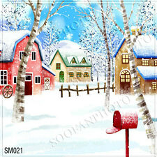 Christmas 10'x10' Computer-painted Scenic Photo Background Backdrop SM021B881