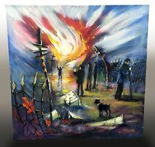 ORIGINAL LARGE OIL PAINTING BY RICHARD HUBBARD 'LIGHT BEARER' ARTIST VISIONARY