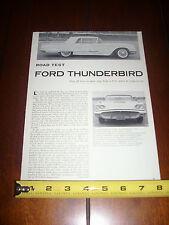 1959 FORD THUNDERBIRD T-BIRD - ORIGINAL ARTICLE