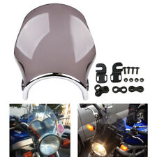"Motorcycle 7"" Round Light Screen Windshield For Honda Yamaha Kawasaki Suzuki"