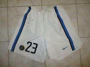 Short INTER MILAN NIKE vintage 2003 2004 calcio MATERAZZI n°23 slip intérieur L