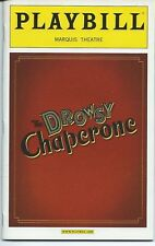 DROWSY CHAPERONE Playbill +ad OPENING NIGHT Sutton Foster Beth Leavel