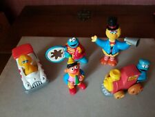 Vintage Sesame Street Jim Henson Lot of 5  Small Toys Big Bird Cookie Monster +