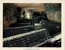 Art Print Février 1955 la Champagnisation du Vin à Vouvray cave naturel hérisson