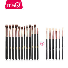 MSQ 18pcs Eye Makeup Brush Set Pro Eyeshadow Brow Lash Lip Blending Brushes Tool