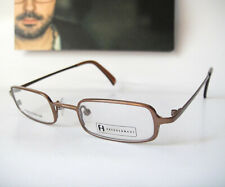 Freudenhaus Titanium 42-20 135 Small lens Fit Modern Brown Eyeglass Frames Mens