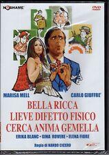 dvd BELLA RICCA LIEVE DIFETTO FISICO CERCA ANIMA GEMELLA Carlo GIUFFRE',M. MELL