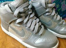 Nike Silver Sparkle High Tops Size 6.5 Girls Shoes Sneakers