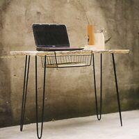 Set of 4 Metal Hairpin Table Legs Vintage/Mid Century/Industrial Style w/ Screws