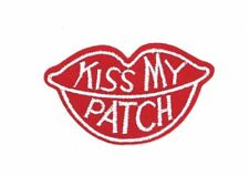 KISS MY PATCH, RED LIPS, KISS MY ASS PATCH EMBROIDERED KISS MY PATCH (KMP-176)