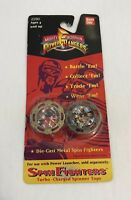 Vintage 90s Mighty Morphin Power Rangers Bandai Die Cast Metal Spin Fighters NEW