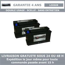 2x Titanium XV110 Batterie Décharge Lente Pour Caravane et Camping Car 12V 110AH