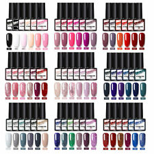 KOSKOE 6 Bottles Nails UV Gel Polish Glitter Holographicsss Gel Varnish Set 8ml