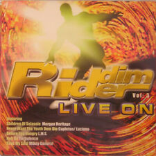 Music CD Reggae Dancehall Riddim Rider Live On Volume  3 Sealed