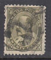 "Canada Scott #94 20 cent olive green ""King Edward VII""  F"