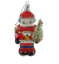 Glass Santa Christmas Tree Ornaments
