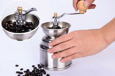 Stainless Steel Manual Coffee Bean Grinder Spice Pepper Burr Mill Tool