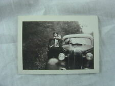 Vintage Car Photo Pretty Girl w/ 1936 Chevrolet Chevy 816