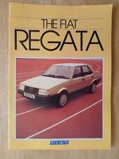 FIAT REGATA orig 1984 UK Mkt sales brochure - 70 85 100 Super