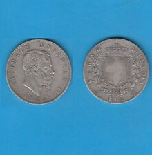 Italie Vittorio  Emanuele  II (1861-1878)  5 Lire  argent  1865 Napoli