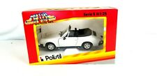 New Polistil Porsche 911 Cabriolet White 1:25 Scale Diecast Model Car Replica
