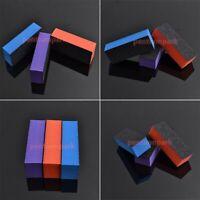 10 x Acrylic Nail Art Tips Buffer Buffing SANDING BLOCK FILES GRIT Salon 3COLORS
