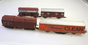 3 Roco Güterwagen H0:Roco Clean; Teleskopwagen; gedeckter Güterwagen