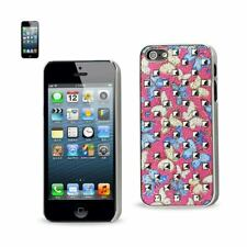 REIKO IPHONE SE/ 5S/ 5STUDDED PLATING RIVETS BUTTERFLIES DESIGN CASE IN BLUE