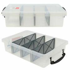 Boxsweden 6L Plastic Compartment Storage Box - Clear