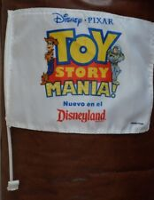 Disney Toy Story Mania Car Window Banner Flag Disneyland Resort SPANISH Pixar