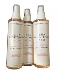 3 VitaminSea Beauty Sea Buckthorn & Rose Facial Toner Mist, 8 fl Oz.