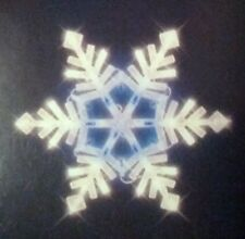 LED Lighted Snowflake  Christmas Window Decoration, White / Blue Lights