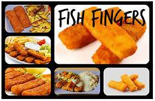 FISH FINGERS - NOVELTY REMINDER FUN FRIDGE MAGNET - BRAND NEW - GIFT / XMAS /