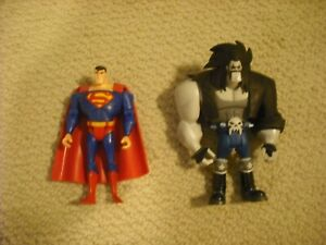 DC Universe Justice League Unlimited JLU Superman and Lobo action figures