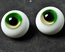 New Colorful(Green&Yellow)Iris 8mm Glass Stript BJD Eyes for Barbie 1/6BJD Doll