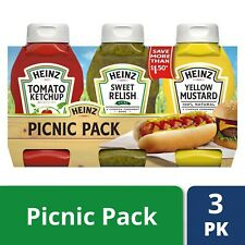 Heinz Ketchup, Sweet Relish & Yellow Mustard Picnic Pack 54 oz