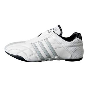 Adidas Taekwondo Adilux Men's White w/Gray Stripes Leather Sports Shoes US 10.5