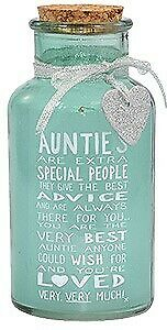 Xpressions Messages Of Love Light Up Auntie Jar - Birthday gift - special Aunt